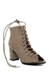 Top Guy Palm Lace Up Bootie Gray