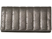 Jessica Mcclintock Cassie Quilted Flap Clutch Pewter Clutch Handbags