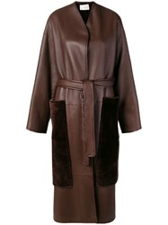 The Row Belted Midi Coat Brown