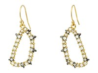 Alexis Bittar Spiked Crystal Wire Earrings Gold Ruthenium Earring