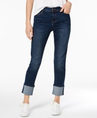 Energie Black Daisy Juniors' Kate Cuffed Straight Leg Jeans Sifiso