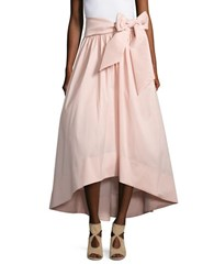 Eliza J Belted Hi Lo Skirt Blush