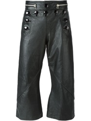Jean Paul Gaultier Vintage Leather Sailor Trousers Black