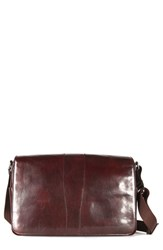 Men's Bosca Leather Messenger Bag Brown Dark Brown