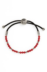 John Hardy Men's 'Classic Chain' Beaded Friendship Bracelet Silver Red Coral
