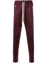 Represent Contrast Side Panel Sweatpants Red