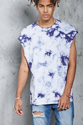 Forever 21 Crystal Dye Muscle Tee Blue White