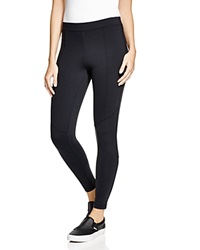 Aqua Seamed Leggings Black