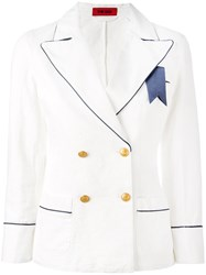 The Gigi Double Breasted Blazer White