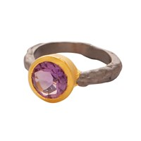 Carousel Jewels Amethyst Gold And Silver Mix Ring Pink Purple