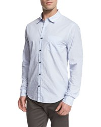 Vince Striped Oxford Shirt Light Blue