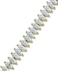 Giani Bernini Cubic Zirconia Tennis Bracelet In 18K Gold Plated Sterling Silver Or Sterling Silver Only At Macy's