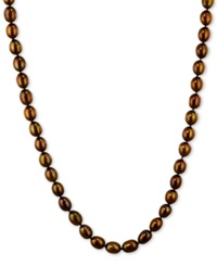 Honora Style Chocolate Cultured Freshwater Pearl Necklace In Sterling Silver 7 8Mm