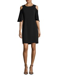 Nue By Shani Solid Cold Shoulder Dress Black
