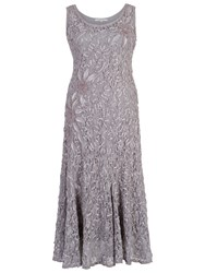 Chesca Lace Cornelli Embroidered Dress Silver Grey