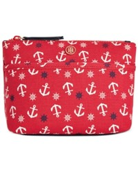 Tommy Hilfiger Canvas Print Cosmetics Case Tommy Red