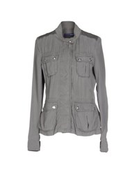 Trussardi Jeans Coats And Jackets Jackets Women Grey