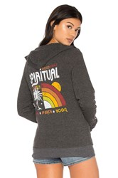 Spiritual Gangster Rainbow Sunset Sweatshirt Black