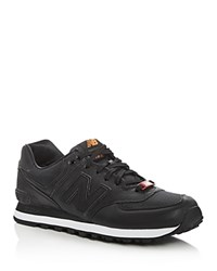 New Balance 574 Flight Jacket Lace Up Sneakers Black