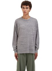 Von Sono Oversized 'A Lot To Learn' Long Sleeved T Shirt Grey