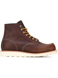 Red Wing Shoes Lace Up Boots Brown