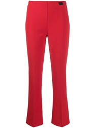 Blumarine Cropped Trousers Red