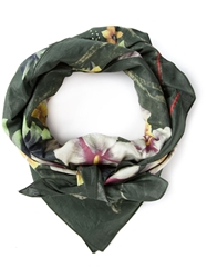 Golden Goose Deluxe Brand Floral And Paisley Print Scarf Green