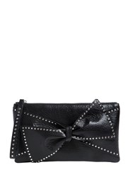 Red Valentino Small Studded Bow Leather Clutch