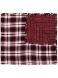 Diesel Checked Scarf Multicolour
