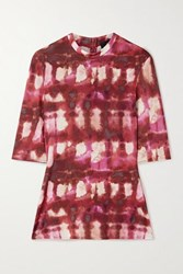 Ellery Land Of The Lost Printed Stretch Jersey Top Red