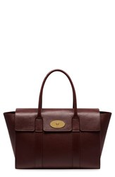 Mulberry 'Bayswater' Grained Leather Satchel Burgundy Oxblood