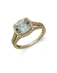 Lord And Taylor 14Kt. Yellow Gold Green Amethyst Diamond Ring Green Amethyst Gold