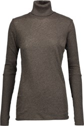 Enza Costa Cotton And Cashmere Blend Turtleneck Sweater Anthracite