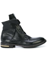 Moma Ankle Lace Up Boots Black