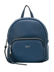 Tosca Blu Logo Plaque Small Backpack Blue