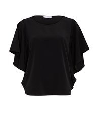 Gina Bacconi Soho Crepe Top With Sequin Side Panels Black