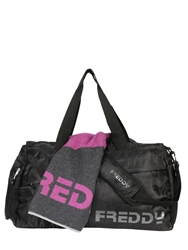 Freddy Cotton Towel And Nylon Duffle Bag Grey Fuchsia