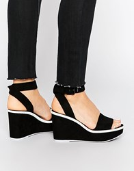 Aldo Maygan Black Wedge Sandals Black