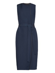 The Row Effie Sleeveless Wool And Silk Blend Coat