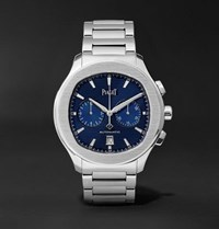 Piaget Polo S Chronograph 42Mm Stainless Steel Watch Silver