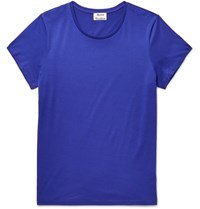 Acne Studios Tudio Tandard O Cotton Jerey T Hirt Royal Blue