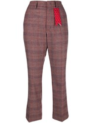 The Gigi Sonia Cropped Trousers Red