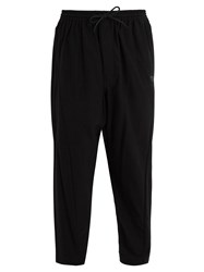 Y 3 Mid Rise Cotton Twill Trousers Black
