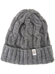 Inverallan Cable Knit Beanie Hat Grey