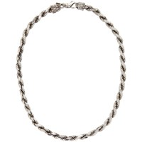 Emanuele Bicocchi Silver French Rope Necklace