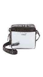 Mcq By Alexander Mcqueen Cross Body Bag Silver Dark Black