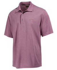 Greg Norman For Tasso Elba Big And Tall 5 Iron Performance Golf Polo Plum