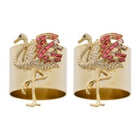 Joanna Buchanan Flamingo Napkin Ring Set Of 2 Pink