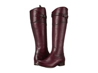 Frye Molly Button Tall Bordeaux Smooth Vintage Leather Cowboy Boots Brown