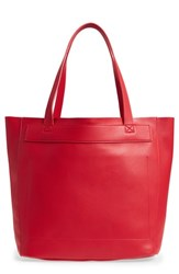 Bp. Stitched Faux Leather Tote Red